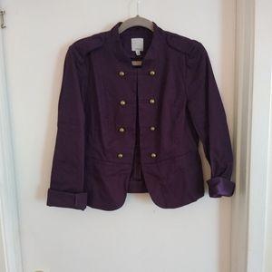 Canvas military-style jacket